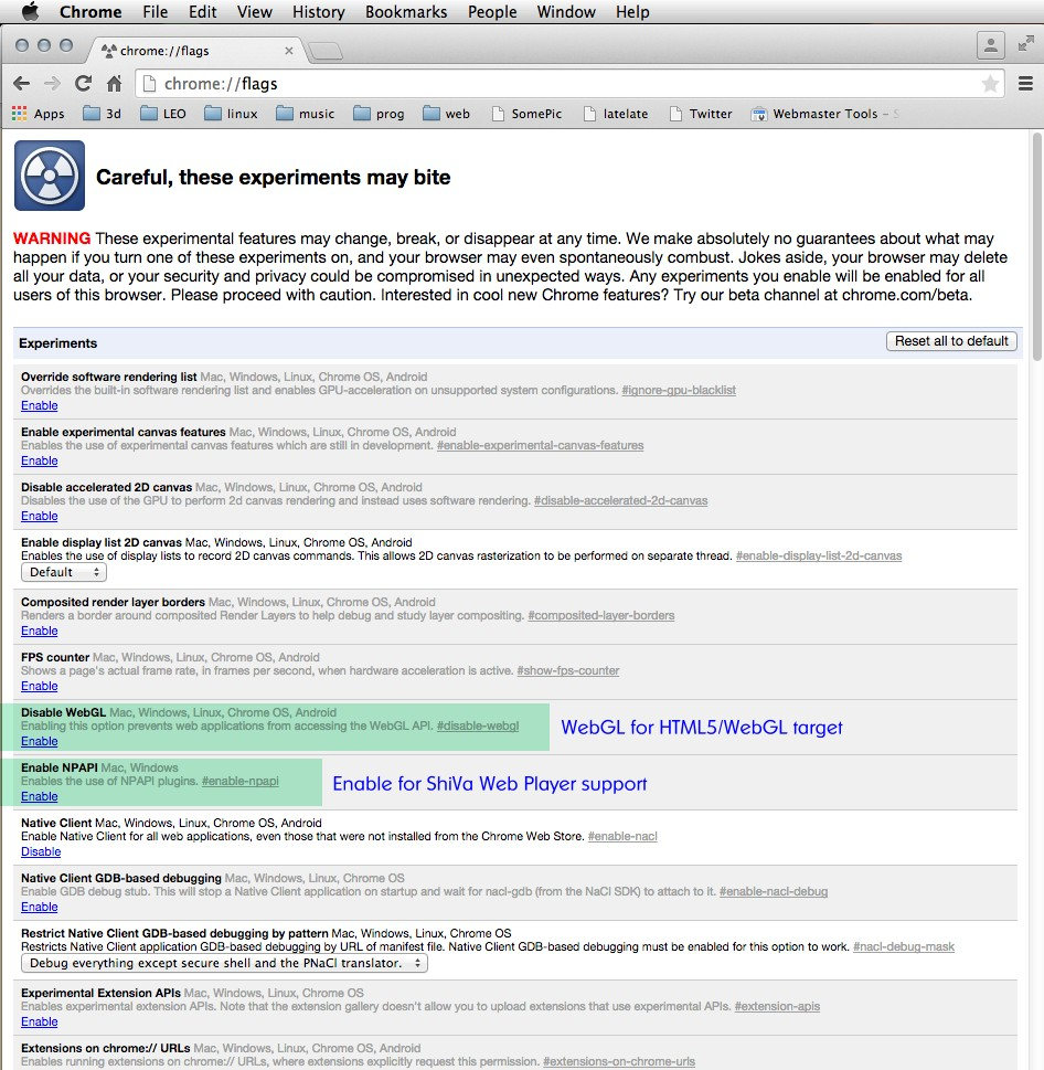 Thoughts on Chrome 42 and the ShiVa Web Player – ShiVa Engine