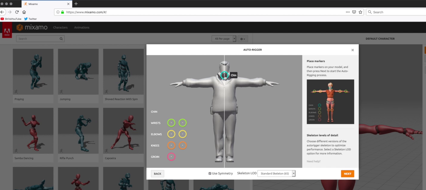 ShiVa character workflow with Fuse and Mixamo – ShiVa Engine